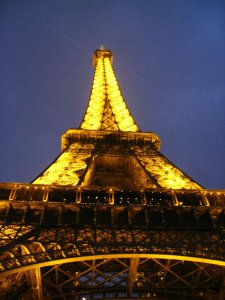 Gorgeous view at night, Eiffel tower