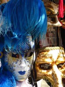 The gorgeous carnival masks, Venice